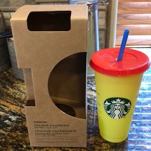 Starbucks Color Changing Cold Cup Citron